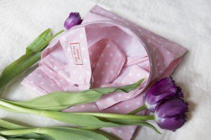 Breastfeeding cover up nursing apron scarf poncho shawl - Pink stars - Gift