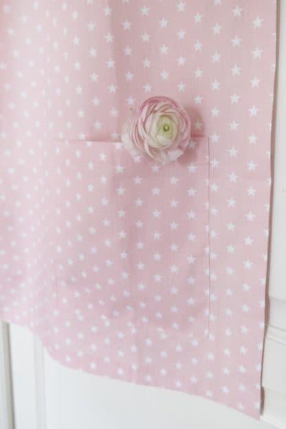 Breastfeeding cover up nursing apron scarf poncho shawl - Pink stars - pockets