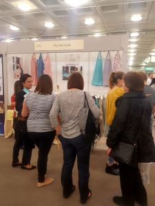 Breastfeeding nursing cover up apron Stand at The Baby Show Olympia Oct 17