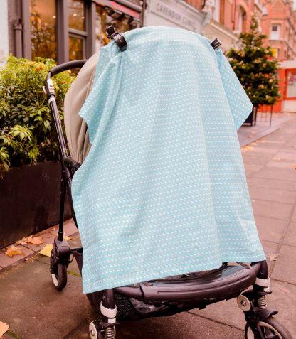 Breastfeeding cover up nursing apron scarf poncho shawl -Flamingos - sunshade