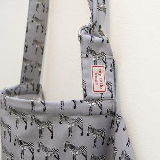 Breastfeeding cover up apron - Grey Zebra - boned neckline