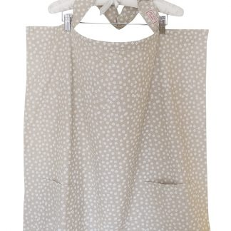 Breastfeeding cover up nursing apron scarf poncho shawl- Beige floral - white background