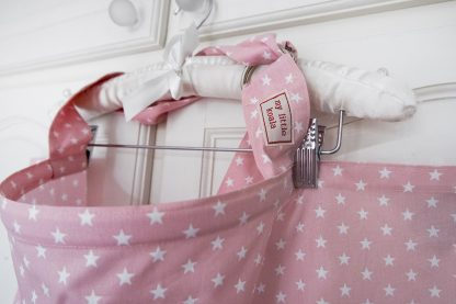 Breastfeeding cover up nursing apron scarf poncho shawl - Pink stars - boned neck