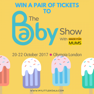 Nursing apron breastfeeding cover at The Baby Show Olympia WIN A PAIR OF TICKETS