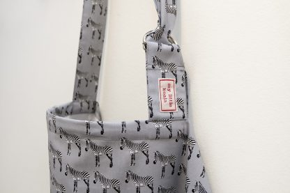 Breastfeeding cover up apron - Grey Zebra - boned neckline