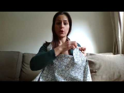 How to tie the neck strap on your nursing cover