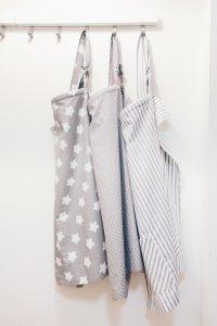 Cotton boned nursing covers breastfeeding aprons scarf shawl poncho greys